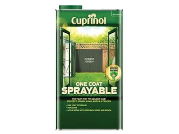 One Coat Sprayable Fence Treatment Forest Green 5 litre